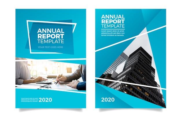 Modello moderno e minimalista di relazione annuale Vettore gratuito