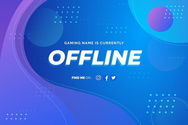 Modello offline astratto della bandiera di twitch Vettore gratuito