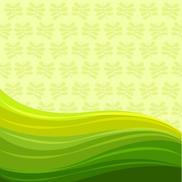 Modello Ondulato Verde Su Sfondo Verde Chiaro Scaricare Vettori