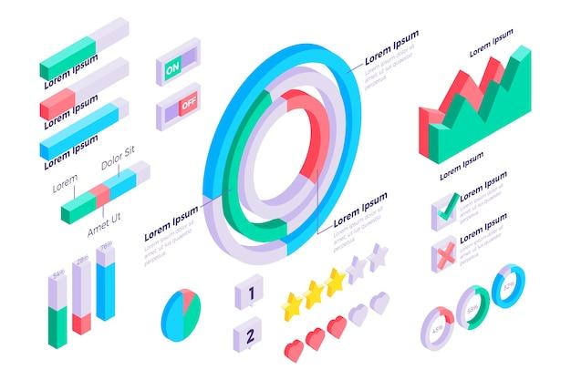 Modello per infografica isometrica Vettore gratuito