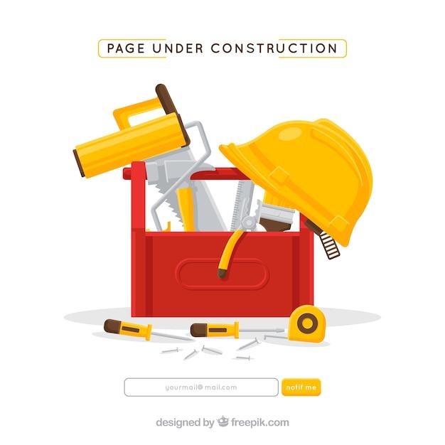 Modello piatto in costruzione Vettore gratuito