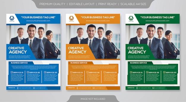 Modello premium brochure aziendale Vettore Premium