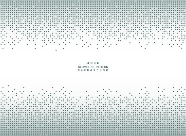 Modello quadrato geometrico blu astratto Vettore Premium