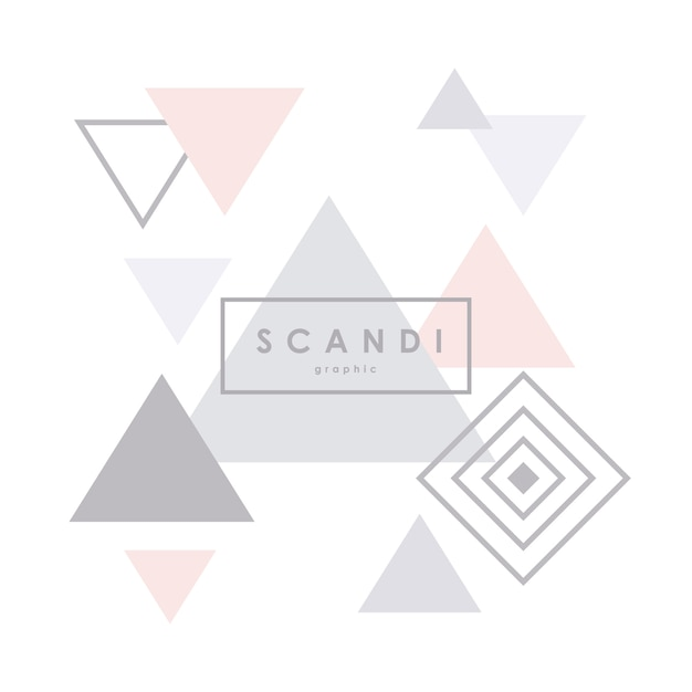 Modello scandinavo geometrico. Vettore Premium
