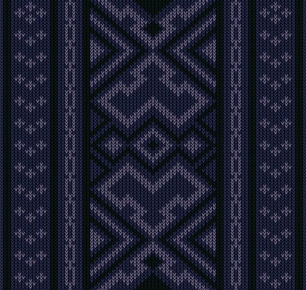 Modello senza cuciture astratto azteco tribale Vettore Premium