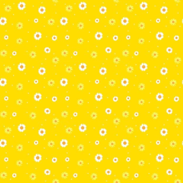 Modello senza cuciture astratto di summer daisy flower con i fiori Vettore Premium