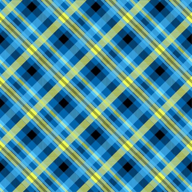 Modello senza cuciture di colore blu scozzese Vettore Premium