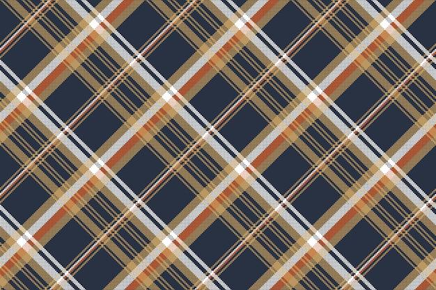 Modello senza cuciture di struttura del tessuto del pixel del controllo blu Vettore Premium