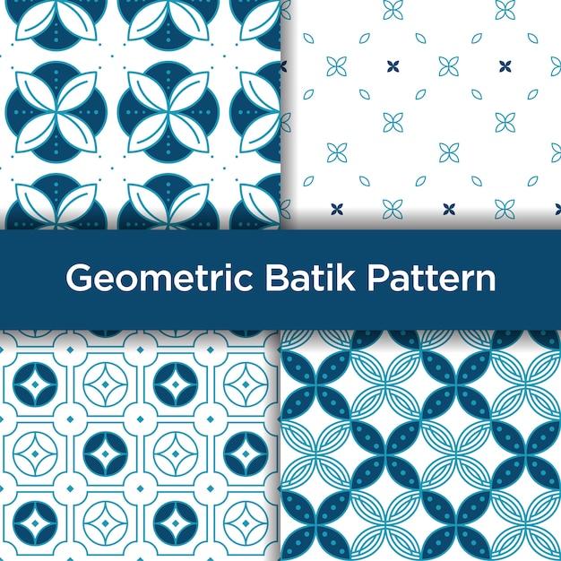 Modello senza cuciture geometrico del batik Vettore Premium