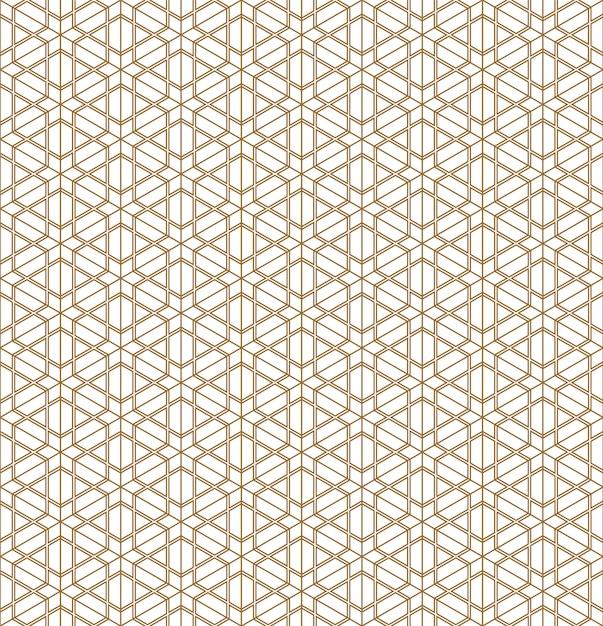Modello senza cuciture geometrico di ornamento giapponese. Vettore Premium