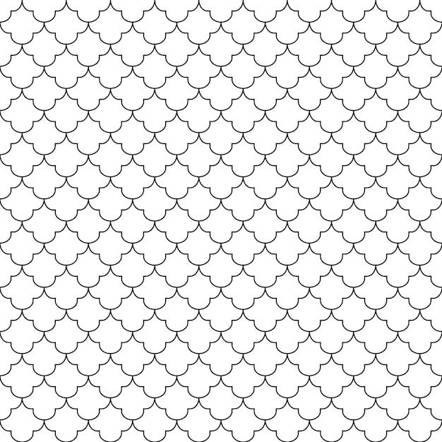 Modello senza cuciture geometrico fondo in bianco e nero progettazione per fondo Vettore Premium