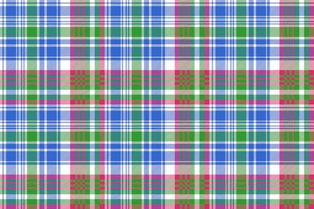 Modello senza cuciture plaid scozzese check verde blu Vettore Premium