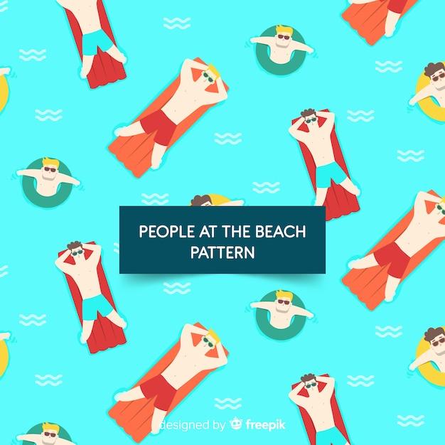 Modello spiaggia Vettore gratuito