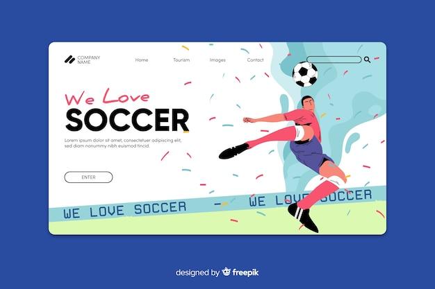 Modello sport pagina di destinazione Vettore gratuito