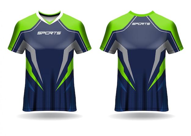 Modello sportivo tshirt maglia calcio Vettore Premium