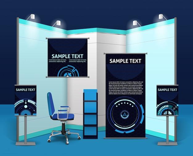 Modello stand espositivo promozionale Vettore gratuito
