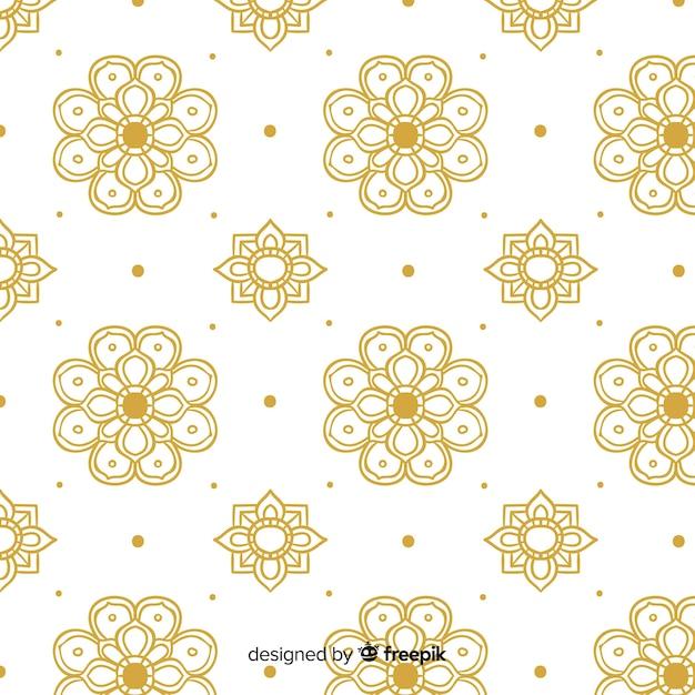 Modello tailandese lussuoso con stile dorato Vettore gratuito