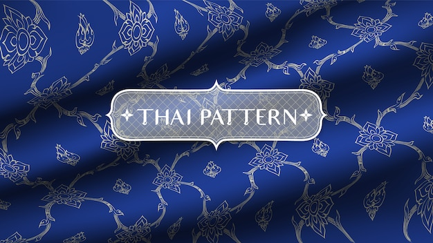 Modello tailandese tradizionale astratto Vettore Premium
