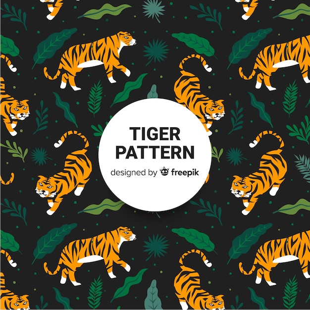 Modello tigre Vettore gratuito