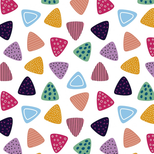 Modello triangolo colorato Vettore Premium