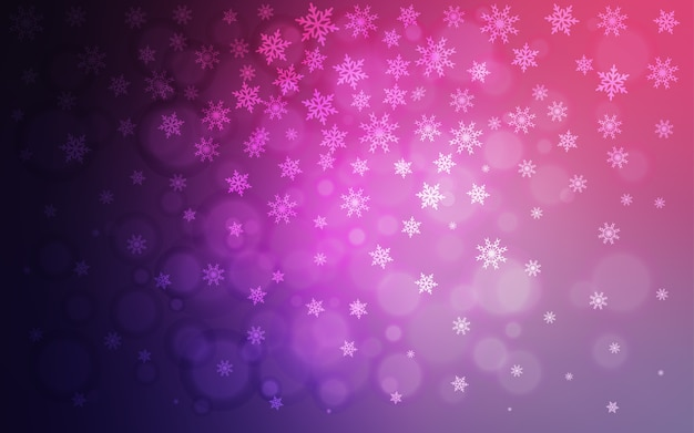Fiocchi Di Neve Di Carta Modelli : Modello vettoriale viola chiaro con fiocchi di neve di natale