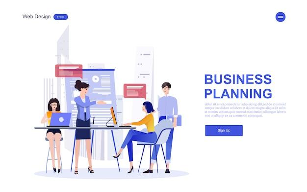 Modello web aziendale per marketing, analisi e lavoro di squadra Vettore Premium
