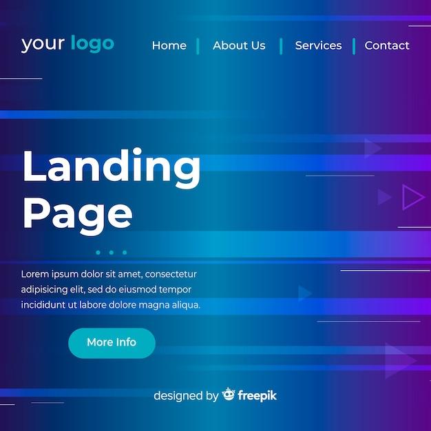 Modello web Vettore gratuito