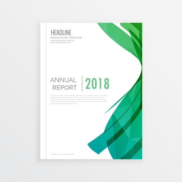 Moden astratto copertina di una rivista tema verde pagina disegno di copertina rapporto annial brochure minima Vettore gratuito