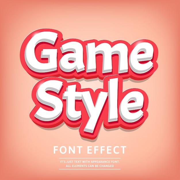 Modern 3d typeface effetto testo titolo stile comico Vettore Premium