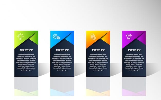 Moderna infografica colorato Vettore Premium