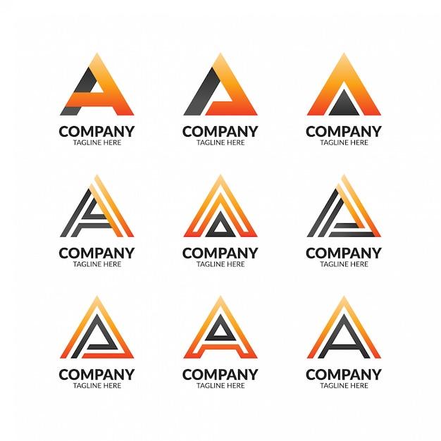 Moderna lettera minimalista un modello di logo Vettore Premium