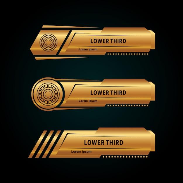 Moderna terza collezione inferiore color oro Vettore Premium