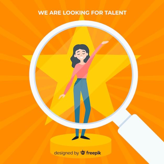 Moderno alla ricerca del concetto di talento Vettore gratuito