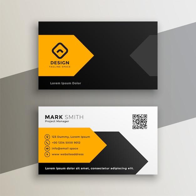 Moderno biglietto da visita geometrico giallo Vettore gratuito