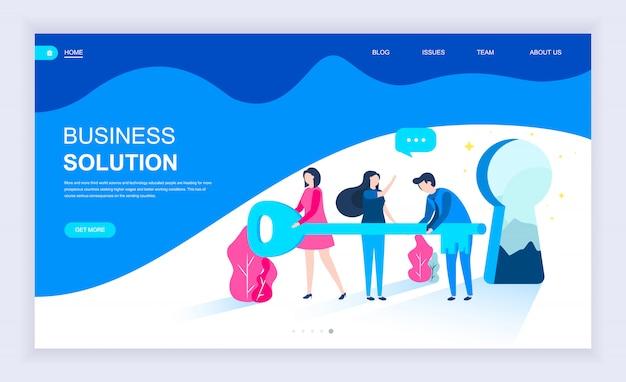 Moderno concetto di design piatto di business solution Vettore Premium