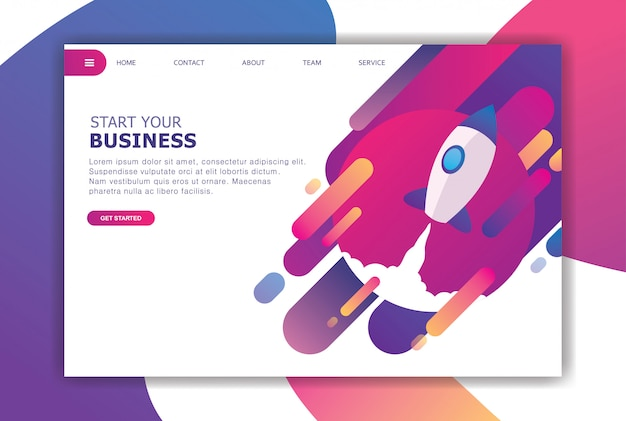 Moderno concetto di design piatto di business Vettore Premium