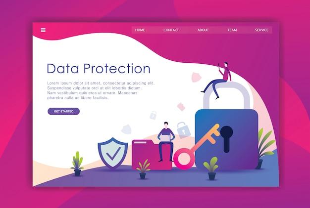 Moderno concetto di design piatto di sicurezza Vettore Premium