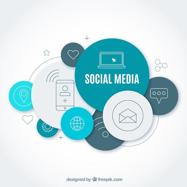 Moderno concetto di social media Vettore gratuito