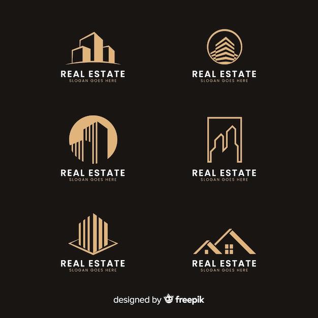 Moderno logo immobiliare collectio Vettore gratuito