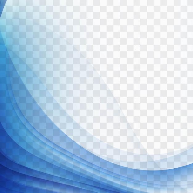 Moderno sfondo blu ondulato Vettore gratuito
