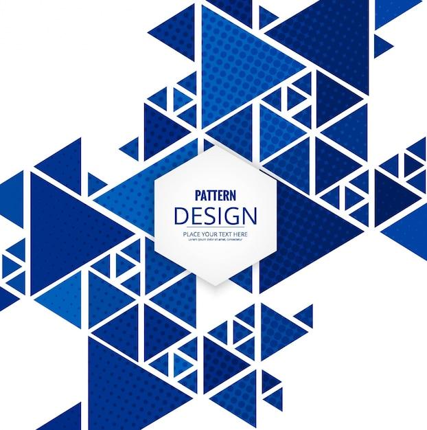 Moderno sfondo pattern di triangolo Vettore gratuito