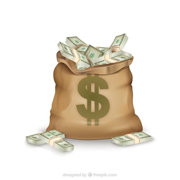Money bag Vettore gratuito