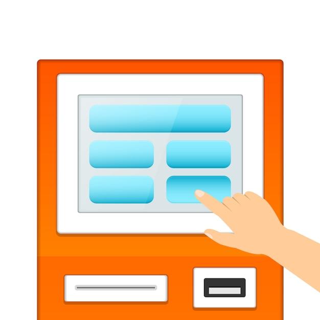Monitor informativo informativo Vettore gratuito