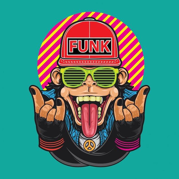Monkey funk Vettore Premium