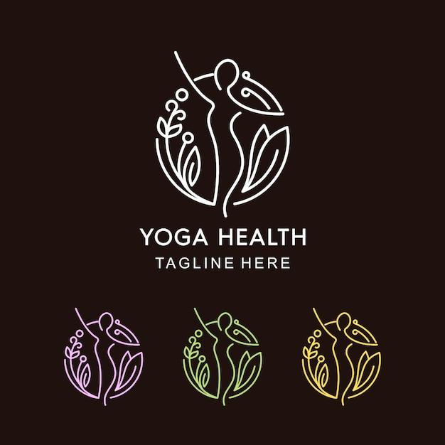 Monoline yoga health Vettore Premium