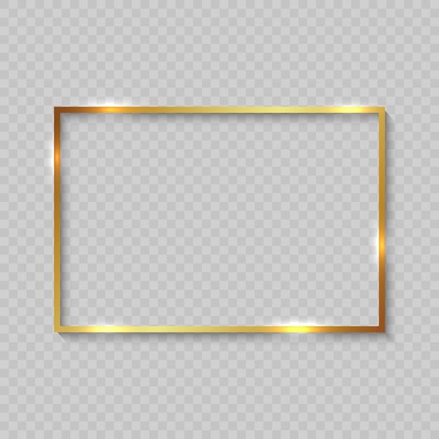 Montatura in oro con bordi lucidi Vettore Premium