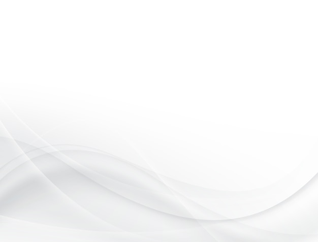 Morbido disegno di sfondo a onde grigie e bianche Vettore Premium