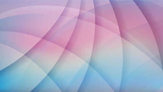 Morbido sfondo blu e rosa tramonto astratto Vettore Premium