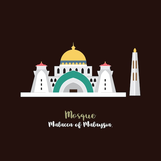 Moschea icon vector. Vettore Premium