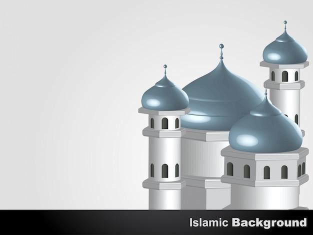 Moschea vettoriale islamico disegno di sfondo Vettore gratuito